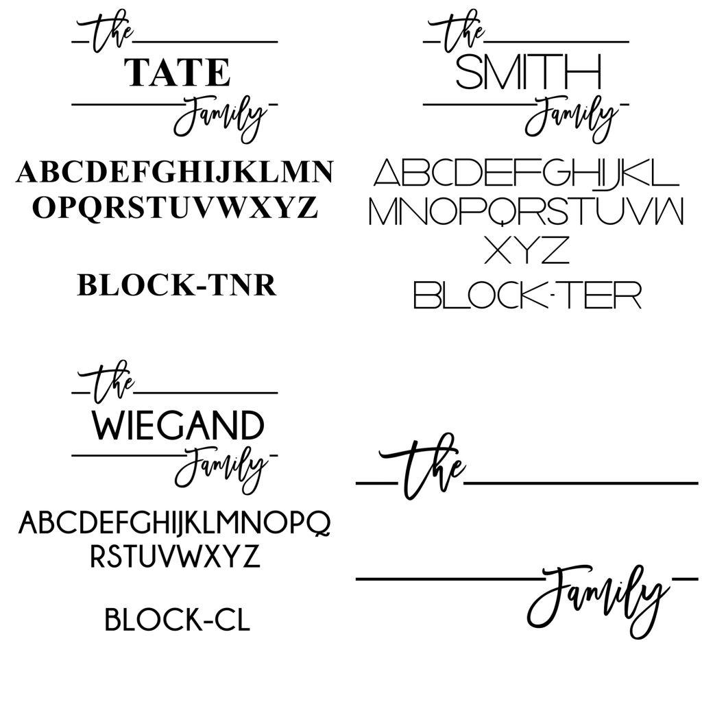 family note board personalization